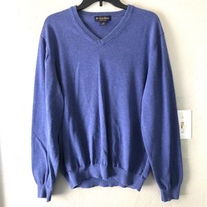 Brooks Brothers Cotton V-Neck Sweater Mens Sz XL